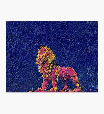 The party lion Photographic Print