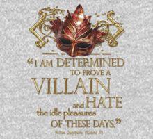 Shakespeare Richard III Villain Quote Kids Clothes