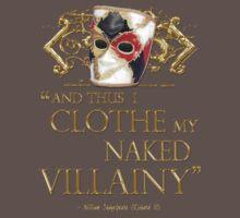 Shakespeare's Richard III Naked Villainy Quote One Piece - Short Sleeve