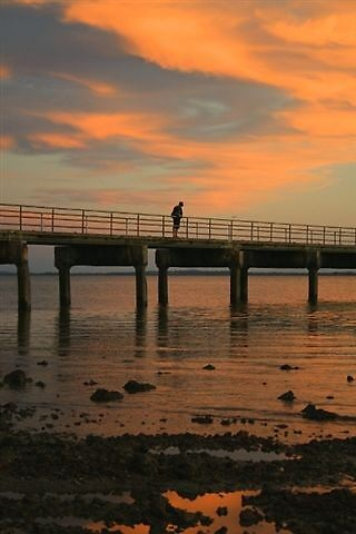 Woodypoint jetty boy by smurf