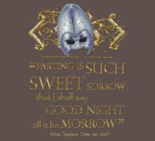 Shakespeare Romeo & Juliet Sweet Sorrow Quote Kids Clothes