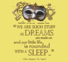 Shakespeare The Tempest Dreams Quote Baby Tee