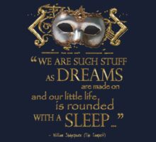 Shakespeare The Tempest Dreams Quote One Piece - Long Sleeve