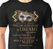 Shakespeare The Tempest Dreams Quote T-Shirt