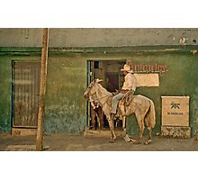 The Cowboy - Mexico Photographic Print