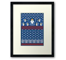 Christmas Time - Ugly Christmas Sweater Framed Print