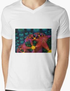 Party Stars Mens V-Neck T-Shirt