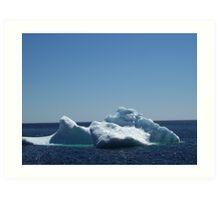 Iceberg ...near the beach Art Print