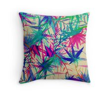 Tropical Jungle - a watercolor painting Throw Pillow