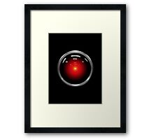 Inspired by 2001: A Space Odyssey - HAL 9000 Framed Print