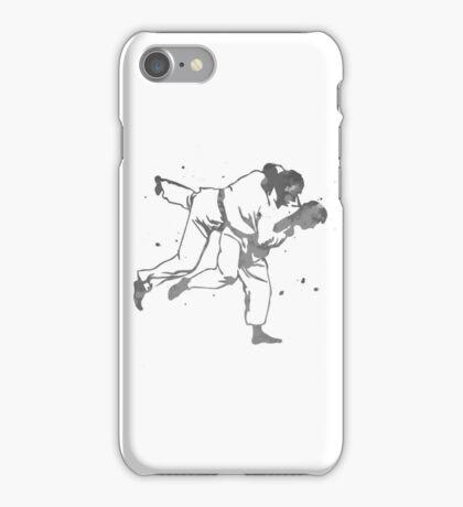 Painted Judo Throw (Judo / BJJ / Sambo) iPhone Case/Skin