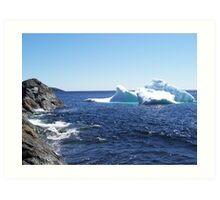 Iceberg...at the beach Art Print