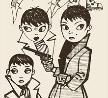 Sketches for girl detective by Edward Crosby