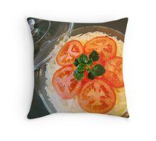Cabbage salad Throw Pillow
