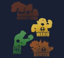 Super Smash Bros-Wario, Donkey kong, Lil Mac, Bowser by xxCPaulxx