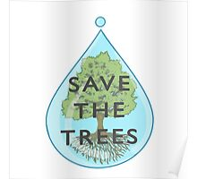 Save the trees (text version) Poster