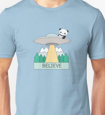 Cool Panda UFO  Unisex T-Shirt