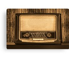 Old radio. Front view Canvas Print