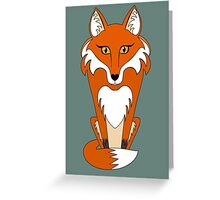 STARING FOX Greeting Card