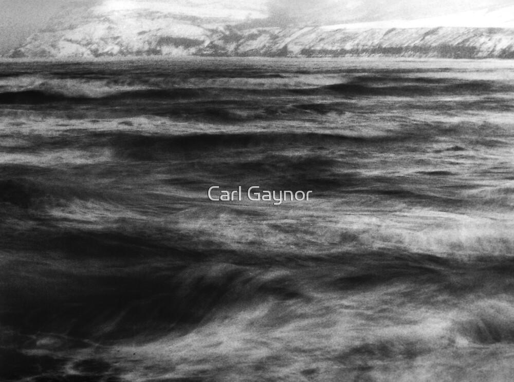 North Winter Sea  - Robin Hoods Bay  by Carl Gaynor