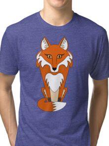 STARING FOX Tri-blend T-Shirt