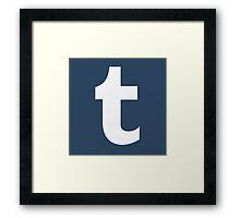 Tumblr Logo Framed Print