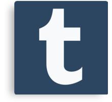 Tumblr Logo Canvas Print