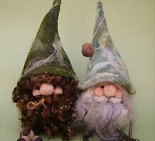 Handmade needle felted creation from Teddy Bear Orphans 'Gned and Gneil' by Penny Bonser