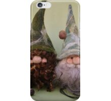 Handmade needle felted creation from Teddy Bear Orphans 'Gned and Gneil' iPhone Case/Skin