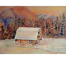 BEAUTIFUL CANADIAN WINTER LANDSCAPES BEAUTIFUL SKIES SNOWSCENE PAINTING Photographic Print