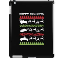 Funny Military Vehicles Being Pulled By Holiday Reindeer T-Shirt and Accessories iPad Case/Skin