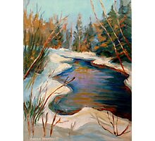 BEAUTIFUL WINTER BROOK BEST SELLING CANADIAN PAINTINGS AND PRINTS BY CANADIAN ARTIST CAROLE SPANDAU Photographic Print
