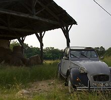 2CV in France by Pete Chapman