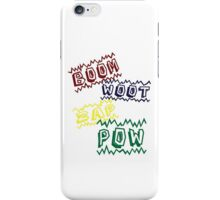 Action Words iPhone Case/Skin