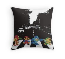 Nintendo Sprites on Abbey Road Throw Pillow