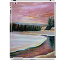 CABIN RETREAT CANADIAN ART CANADIAN PAINTINGS BEST SELLING WINTER SCENE BY CANANDAIN ARTIST CAROLE SPANDAU iPad Case/Skin