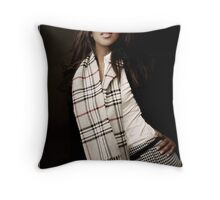 Burberry Scarf Throw Pillow