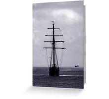 Tall Ship All Ahead Greeting Card