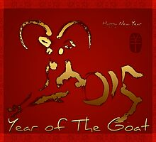 Golden Goat Year - Chinese and vietnamese New Year 2015  by PBdesigns