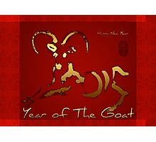 Golden Goat Year - Chinese and vietnamese New Year 2015  Photographic Print