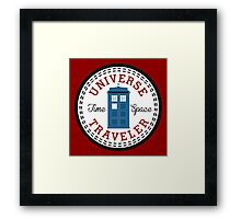 Doctor Who Converse Time Traveller Framed Print