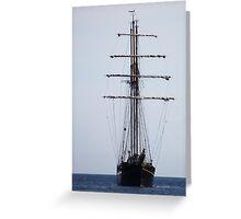 Tall Ship In Bangor Greeting Card