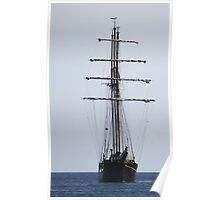 Tall Ship In Bangor Poster