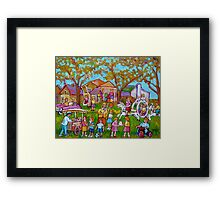 BEST SELLING CHILDREN'S PRINTS AND PAINTINGS HAPPY SCENE FOR CHILD BY CAROLE SPANDAU Framed Print