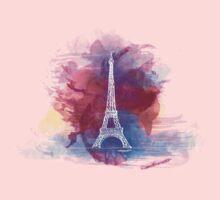 Eiffel Tower - Single Line One Piece - Short Sleeve