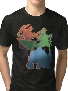 Mega Blaziken, Swampert, and Sceptile Tri-blend T-Shirt