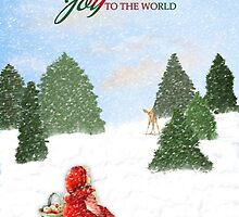 Joy to the World Christmas Card by MaryTimman