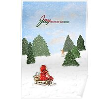 Joy to the World Christmas Card Poster