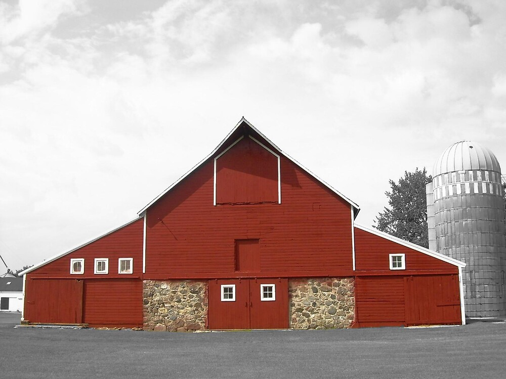 big red barn by Jaclyn Clemens