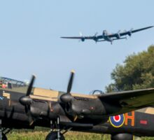 Three Lancasters at East Kirkby Sticker